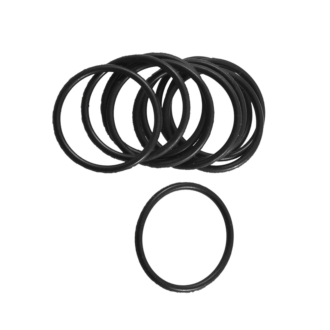 27mm x 22mm x 2.5mm 10 Piece Uxcell Rubber O Rings Oil Seal Gasket Washer Replacement