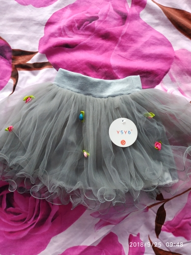 Baby Kids Girls Tutu Skirt Flower Party Weeding Christmas Ball Gown Princess Lace Children Mini Skirt New Year Cute Clothes