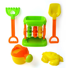 Beach Sand Play Toys Set Children Kids Seaside Wheelbarrow Shovel Rake Toy Kit(China)