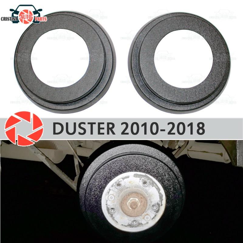 เบรคกลอง linings สำหรับ Renault Duster 2010-2018 รถจัดแต่งทรงผมตกแต่งป้องกัน scuff อุปกรณ์เสริมแผงด้านหลังเบรคกลอ...