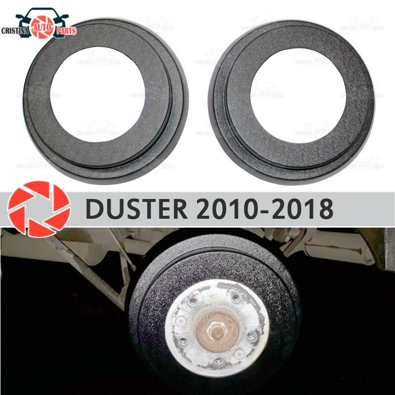Renault duster 2010-2018 용 브레이크 드럼 라이닝 자동차 스타일링 장식 보호 스커프 패널 액세서리 커버 리어 브레이크 드럼