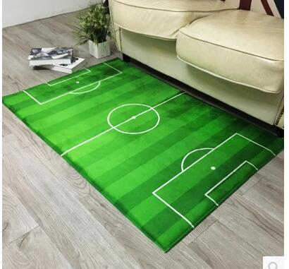 Football Field Carpets For Living Room Soccer Lawn Basketball Sports Mat Rug Door Carpet Home