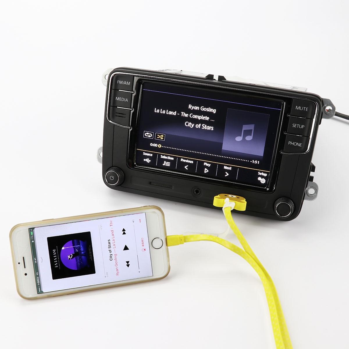 OEM 6.5'' MIB RCD330 Car Radio Bluetooth For VW GOLF Jetta Passat 6RD 035 187 A rcd330 plus mib ui radio for golf 5 6 jetta cc tiguan passat polo