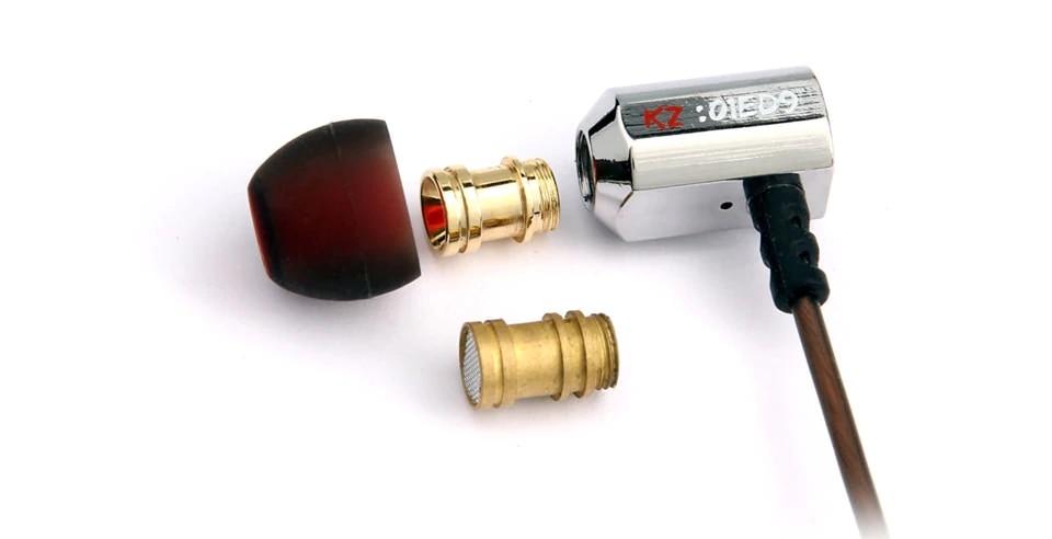 KZ ED9 Regolazione del suono Ugelli cuffie in ear auricolari in metallo cuffie HIFI per ie800 ie80 per iphone earpods mi K3003 ZS10 AS10