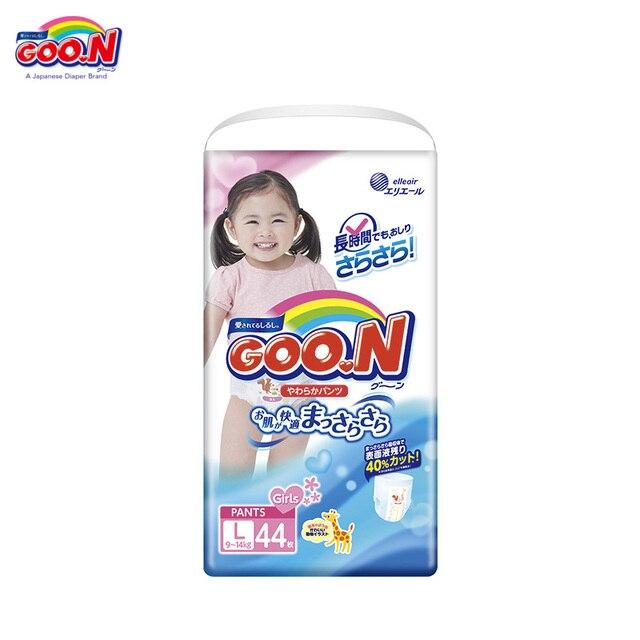 Трусики-подгузники Goon для девочек 9-14 кг (44 шт.) L