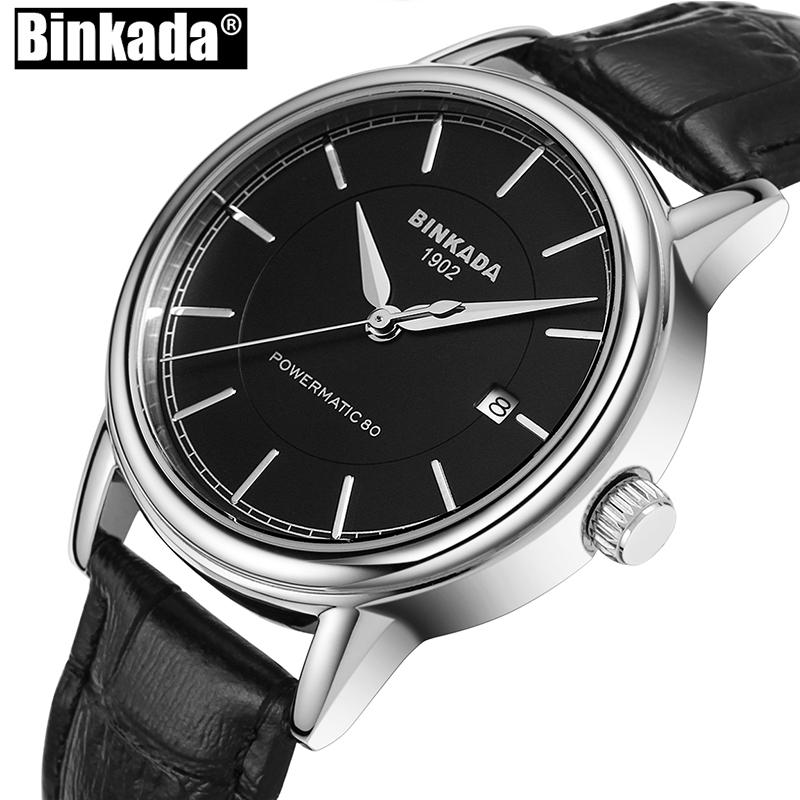 New BINKADA Casual Watch Men Mechanical Wristwatch Male Automatic Self-Wind Simple Design Wristwatch Clock Hours 2017 read men fashion automatic watch self wind mechanical wristwatch male clock classic stylish design stainless steel watch