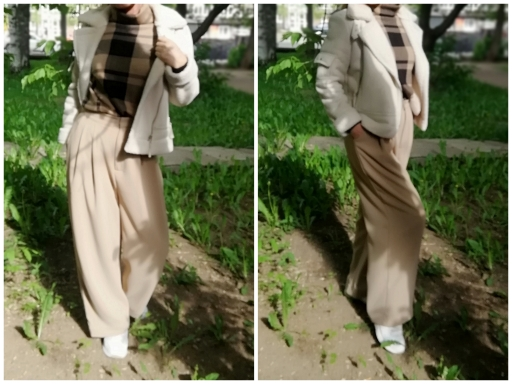 Winter Hot Women Thick Pants Loose Solid Wide Leg Pants Trendy Ladies Loose Trousers Women's Clothing photo review