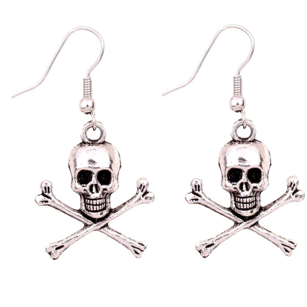 925 Sterling Silver Three Skull Skeleton Retro Pinkie Midi Ring Open Band UK M