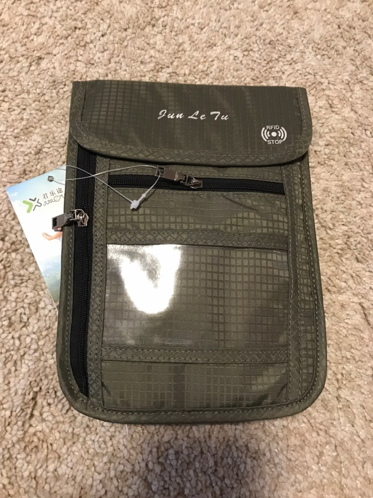 BISI GORO Travel Passport Cover Card ID Holder Neck Hanging Storage Clutch Money Bag Travel Multifunction Credit Card Package photo review