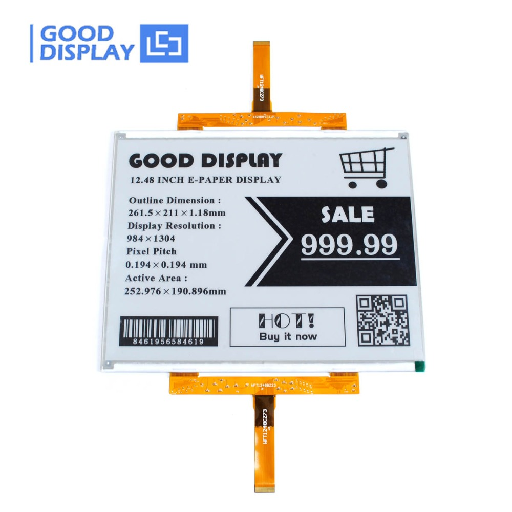Large E-ink Display 12.48inch SPI 4 Grayscale Epaper Display