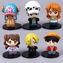 цена на Q Version Of The Anime Pirate King Doll Hand Model Luffy Sanji Nami Chopper Ornaments