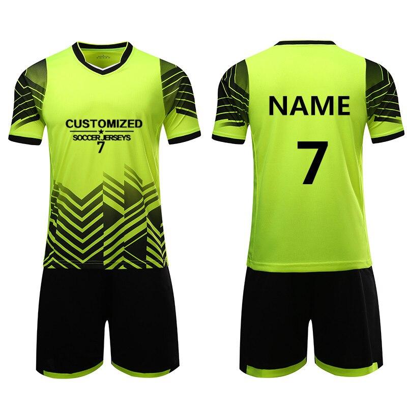 d002805b Kids Soccer Sets Survetement Youth Child Football Shirts Sport Kit Training  Suit Breathable Uniforms Customized Print