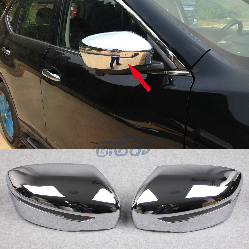 Teaegg for nissan x trail rogue 2014 2015 2016 2017 rearview mirror side trim chrome