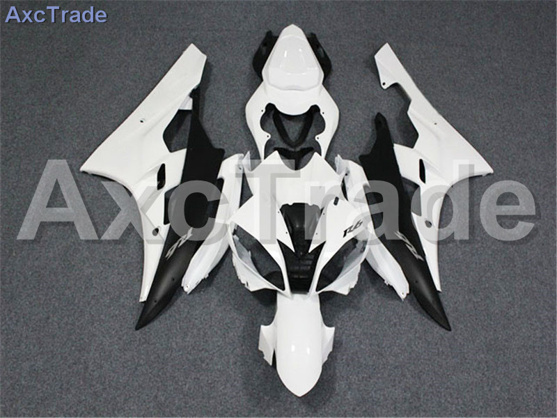 Motorcycle Fairings Kits For Yamaha YZF600 YZF 600 R6 YZF-R6 2006 2007 06 07 ABS Injection Fairing Bodywork Kit White A400 fit for yamaha yzf 600 r6 1998 1999 2000 2001 2002 yzf600r abs plastic motorcycle fairing kit bodywork yzfr6 98 02 yzf 600r cb20