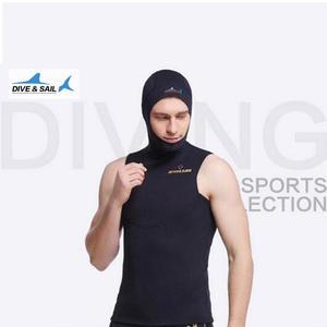 94a9cc0797f 2 MM Neoprene Short Sleeved Jumpsuit With Hood Cap Men Wetsuit Scuba Dive  Vest