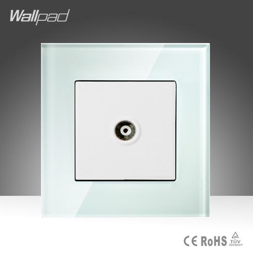 Satellite TV Sokcet Wallpad Smart Home Hotel White Crystal ...