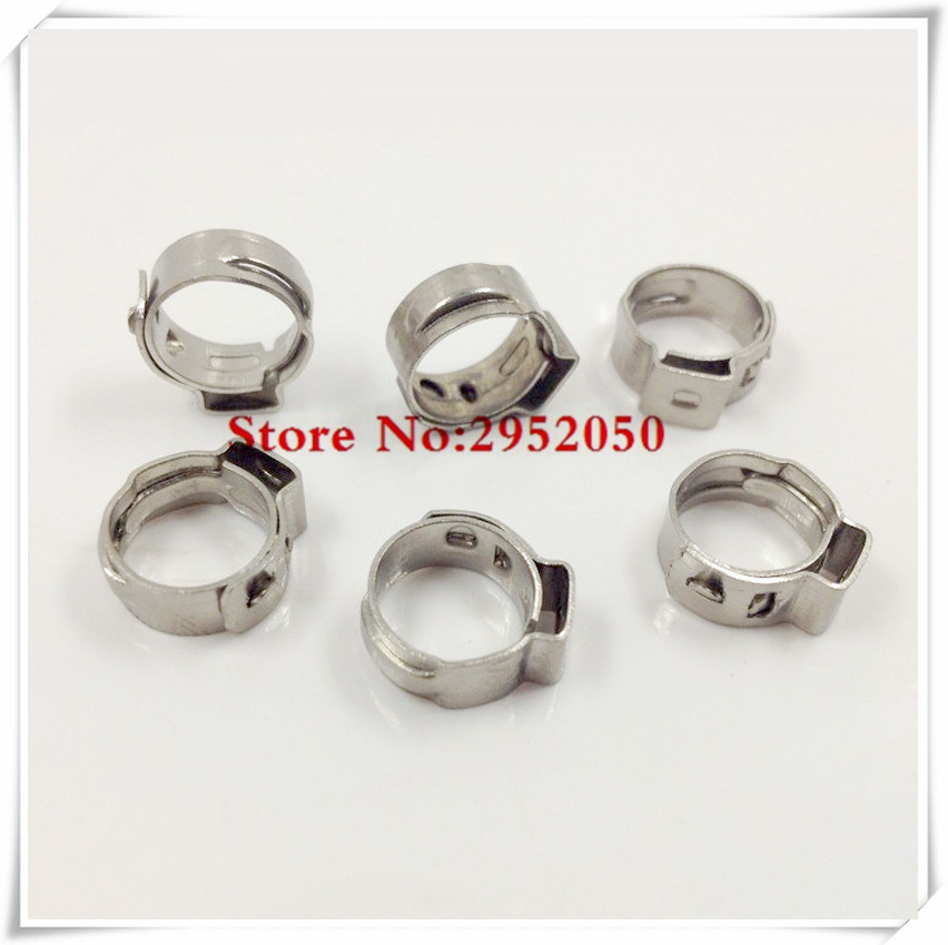 Free Shipping High Quality 10 PCS Stainless Steel 304 Single Ear Hose Clamps Assortment Kit Single
