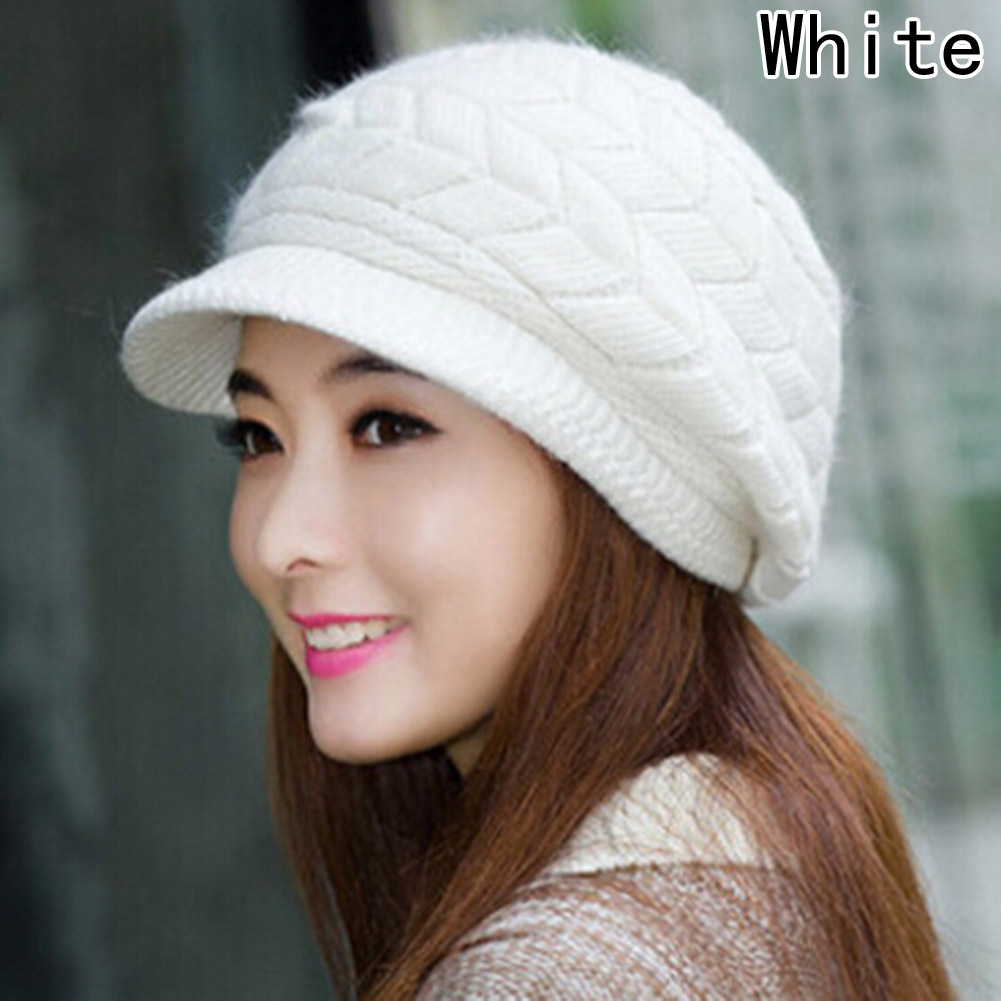 2017 Winter Beanies Knit Womens Hat Winter Hats For Women Ladies Beanie Girls Skullies Caps Rabbit Wool Warm Hat ...