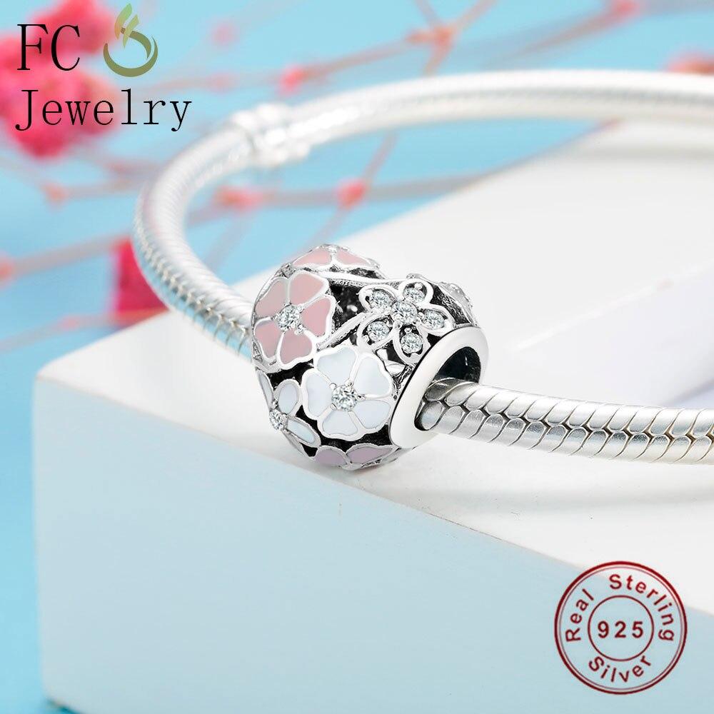 Оптовая продажа заводская цена твердые 925 пробы серебро любовь сердце бусы талисманы эмаль Fit Pandora браслет и браслеты новые ювелирные изделия