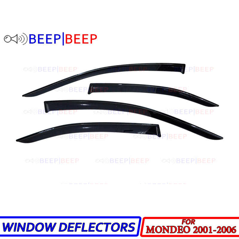 Ford Mondeo Wind Rain Deflectors 4 Pcs 2007-2015