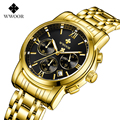 Relogio Masculion marca hombres Top marca de lujo Deporte Militar hombres del reloj del cuarzo reloj hombre acero completa Casual negocios oro reloj