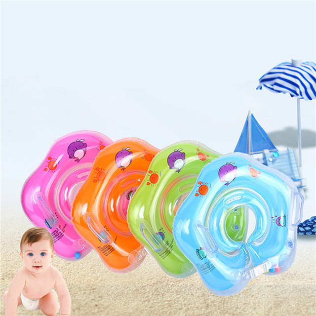Newest Baby Inflatable Swimming Neck Float Inflatable Tube Ring Swimming  Rings Safety Child Toys Babies Swim