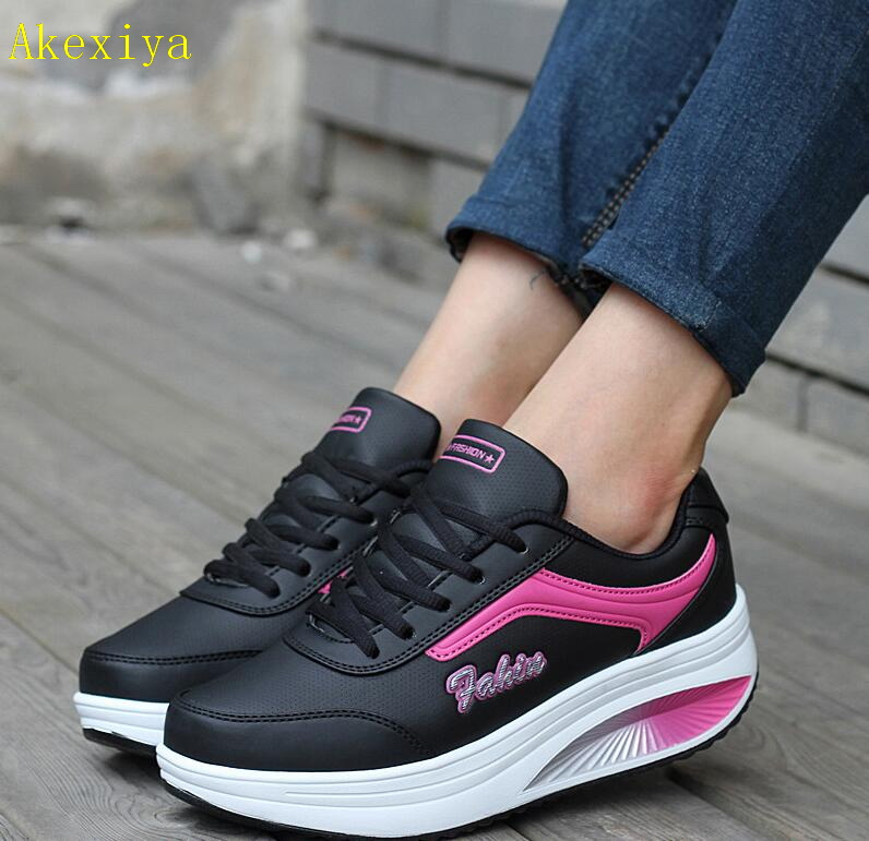 Akexiya Summer Women Sneakers Platform Womens Casual Shoes Ladies Basket Femme Wedges Trainers Zapatillas Deportivas Mujer
