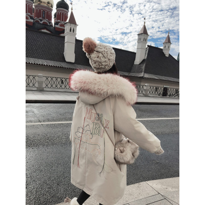 down coats for women 2019 winter warm clothes long sleeves parka down jacket woman hooded MX18D8844