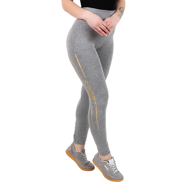 Jogging women`s tights OEMEN LR678-2 sport leggings for running, gym and fintess high waist gray pants shipping from Russia