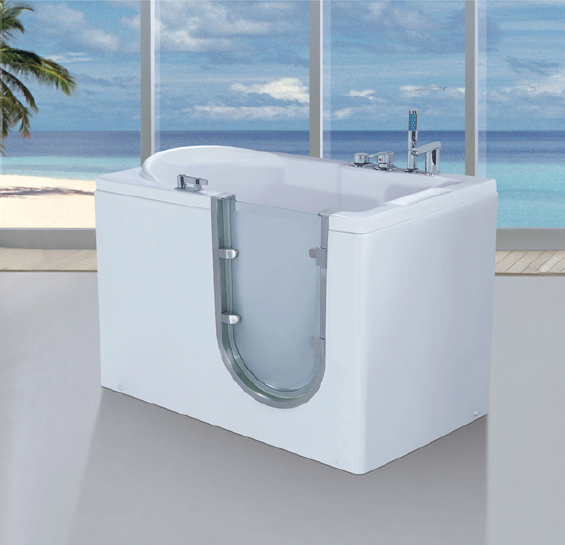 Whirlpool massage bathtub for old people and disabled people walk in bathtub