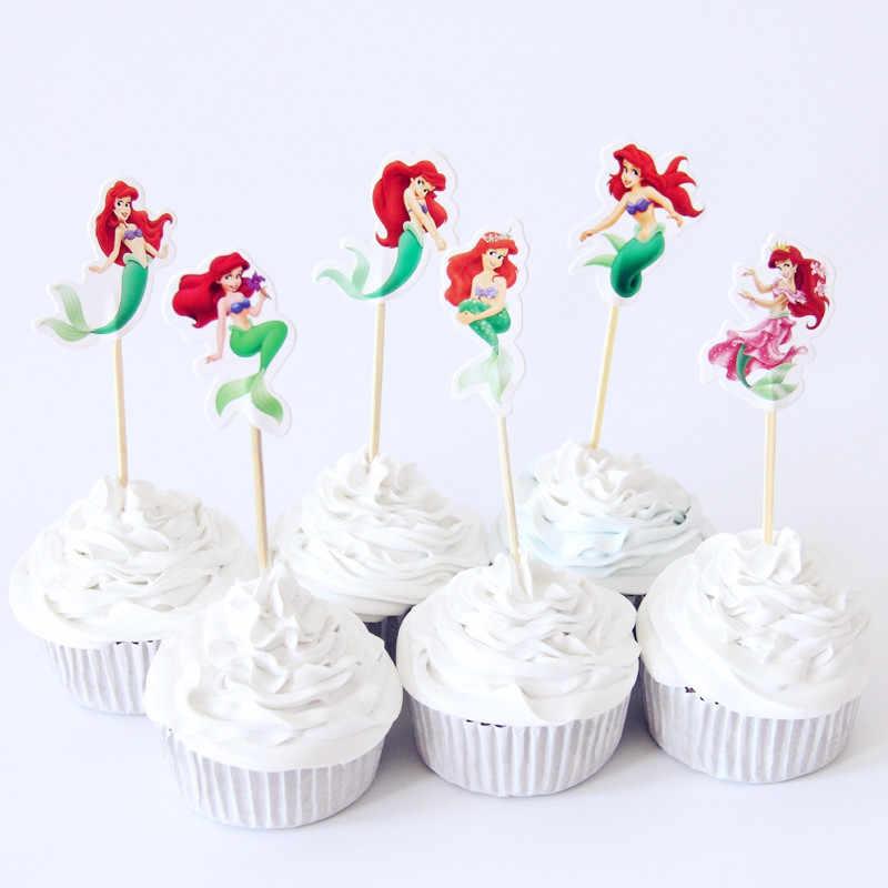 1 pacote novo bolo de aniversário toppers bonito glisten fontes de festa tema sereia festa cupcake decoração sereia cauda lantejoulas pérola moda