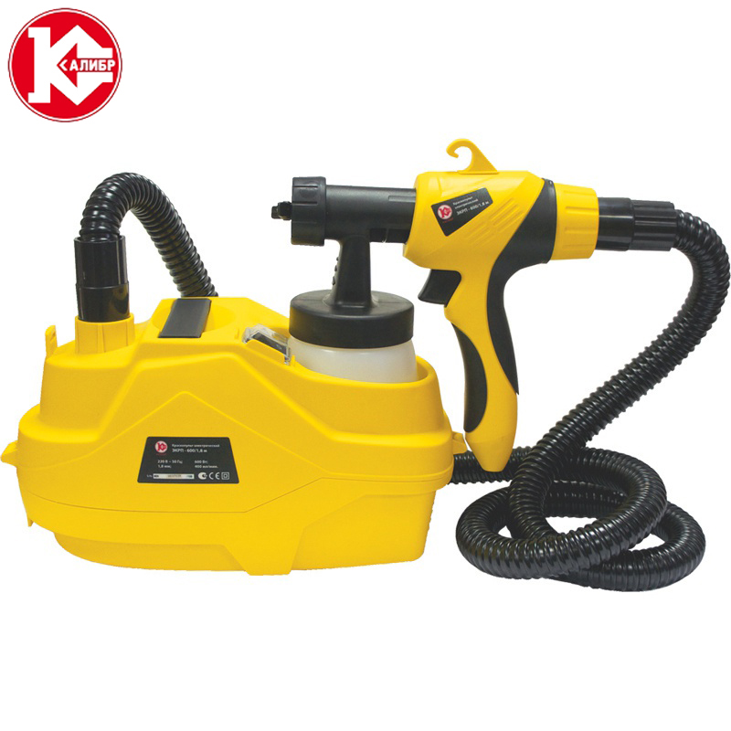 Kalibr EKRP-600/1.8M High-pressure Electric Paint Spray Gun Sprayer Air Brush Painting Tool cleaning brush with spray