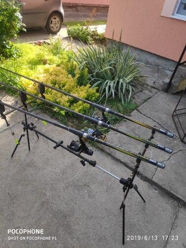 Varas de pescar Carbono Telescópica Spinning