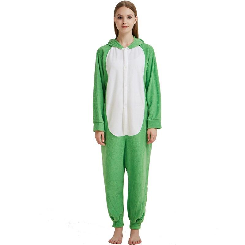 fdea2c814361 New Green Bunny Kigurumi For Women Winter Pajamas Rabbit Onesie For Adult  Fleece Cosplay Costume Party Jumpsuit For Halloween on Aliexpress.com