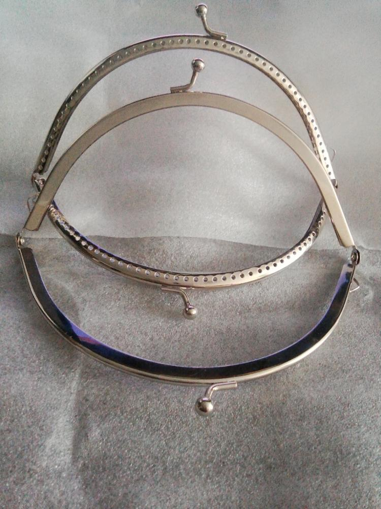 THINKTHENDO 1PC metalen frame kusbeugel boog DIY Craft voor tas zilver tone 15cm photo review