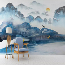 Ink landscape forest wall professional production mural factory wholesale wallpaper poster photo