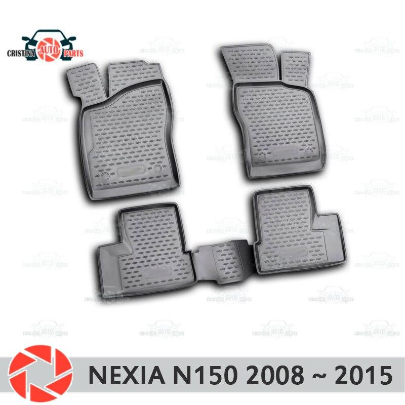 Alfombrillas de suelo para Daewoo Nexia N150 2008 ~ 2015 alfombras antideslizantes de poliuretano protección de suciedad interior accesorios de estilo de coche