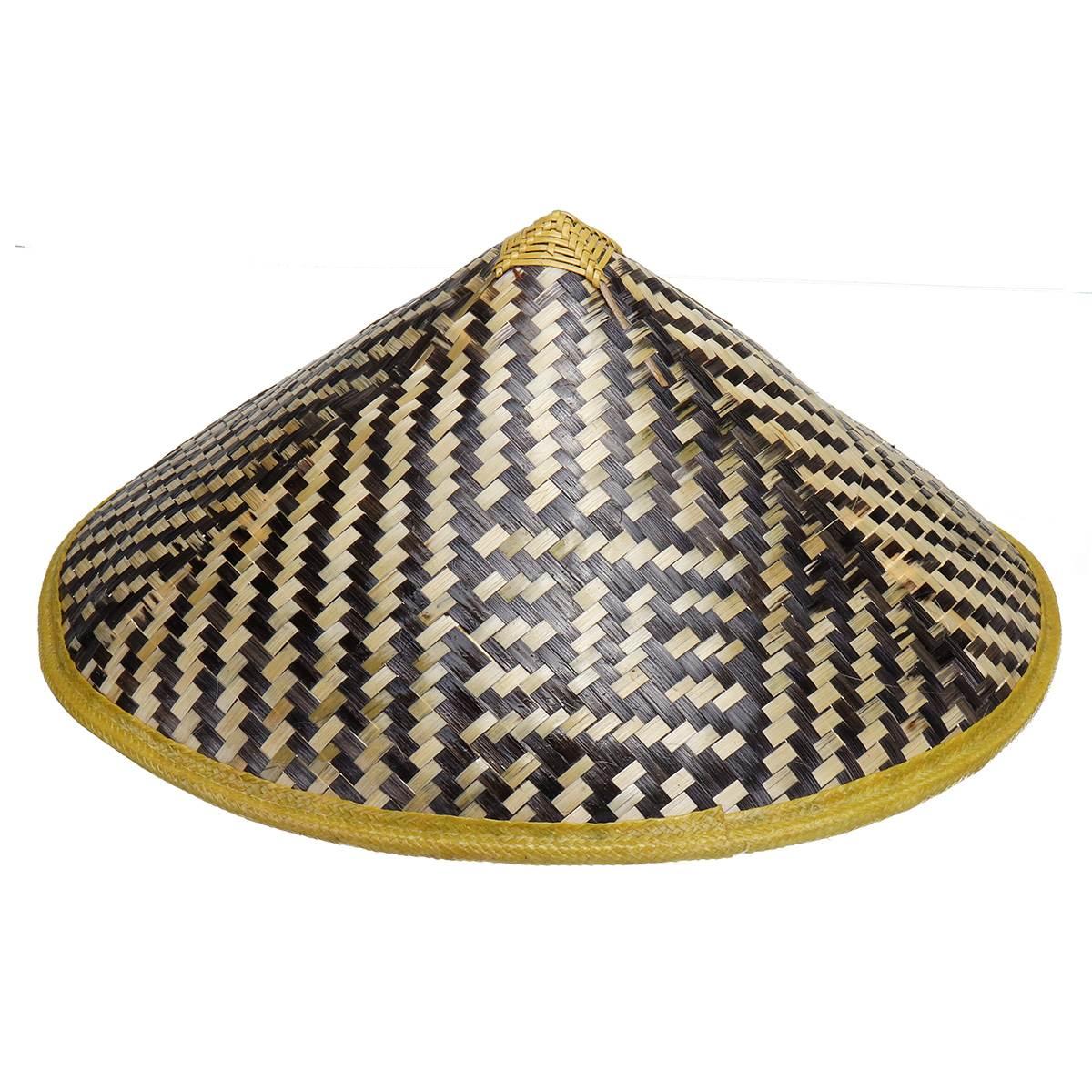2018 Handmade Weave Straw Hat Chinese Style Bamboo Rattan Hats Steeple Retro Tourism Rain Caps Fisherman Bucket Hat Sunshade straw fedora hat