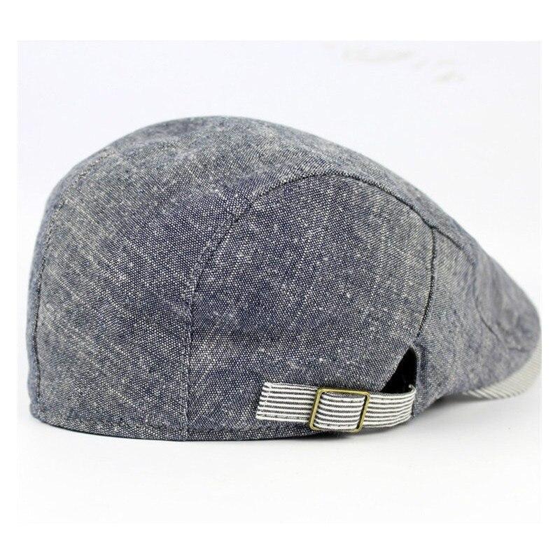 9e7a1ebacd2 Men s Vintage Cotton Beret Cap Casual Sunshade Newsboy Peaked Caps Forward  Hats Adjustable Paper Boy Cabbie Golf Gentleman Cap-in Berets from Apparel  ...