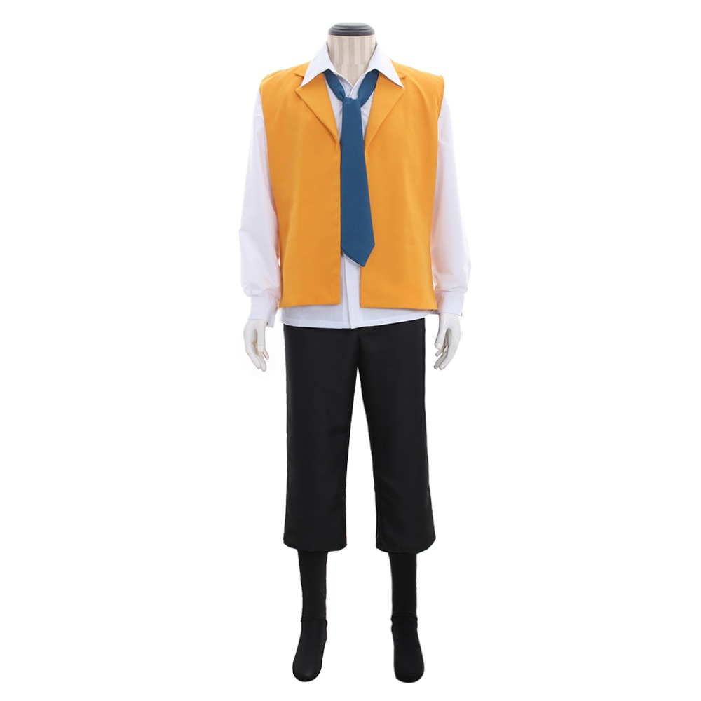 SERVAMP Lawless Hyde Greed Cosplay Costume Adult Men Halloween Costume Vest Shirt Scarf Uniform Suit Outfit Custom Made