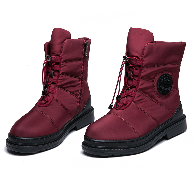 IMG_8271AIMEIGAO High Quality Warm Fur Snow Boots Women Plush Insole Waterproof Boots Platform Heels Red Black Winter Women Boots