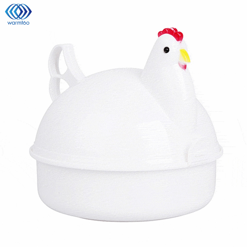 Eggs Steamer Chicken Shaped Microwave 4 Egg Boiler Cooker Novelty Kitchen Cooking Appliances Steamer Home Tool multi function stainless steel electric egg cooker boiler steamer 14 eggs egg cooker steamer shipping faster