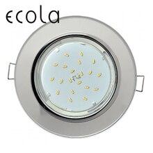 Ecola GX53 H4 5310 Glass Светильник круглый встраиваемый для ламп GX53 Круг 38x133