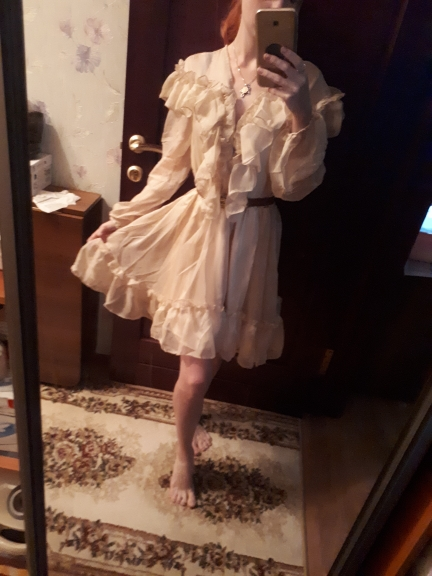 Sexy V Neck Ruffle Women Dress Elegant Long Sleeve Mesh Lining Summer Party Dresses Casual Fashion Female Short Vestidos photo review