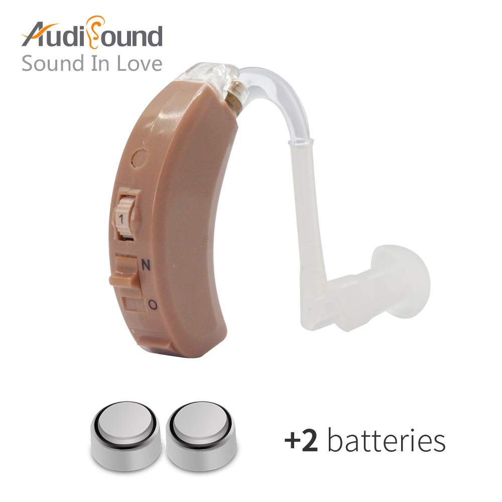High quality behind the ear hearing aid hearing voice amplifier ear sound amplifier hearing aids with hearing aid batteries 1pcs hearing aid mini behind ear high low tone and convenient hearing aid aids best sound voice amplifier for both ears s 101