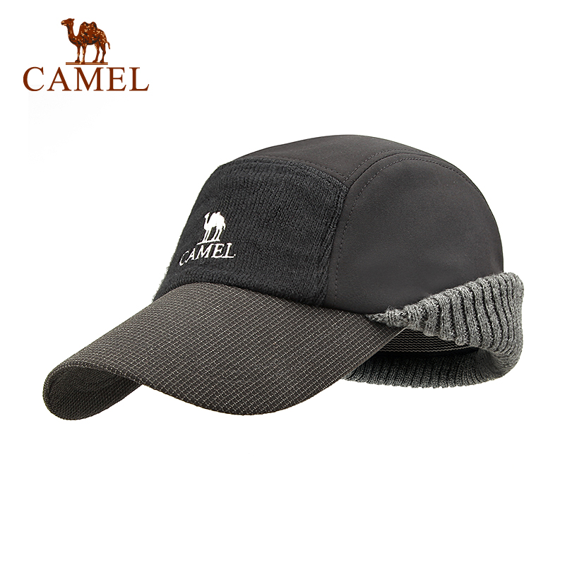 CAMEL Unisex Winter Hiking Hat Wool Thickened Baseball Cap Thermal Windproof Waterproof Outdoor Sport Keep Ear Warm Climbing Hat 10pcs free shipping0177 yipan c14 lace brim ear cat straw leisure cap men women baseball hat wholesale