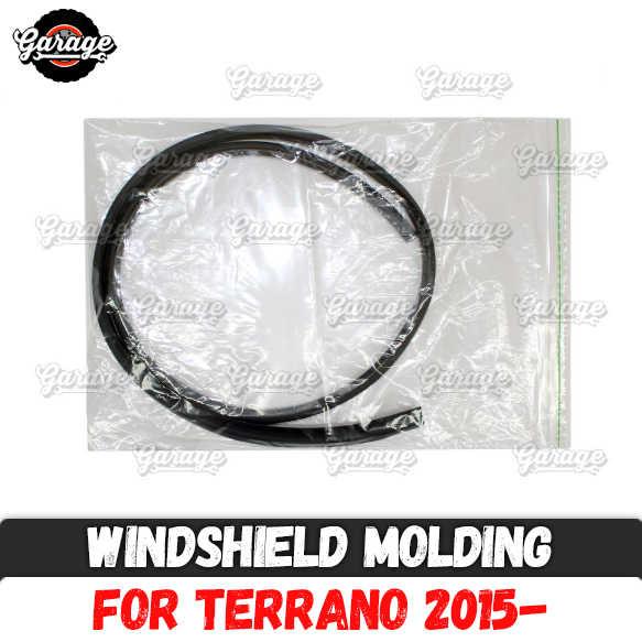 Cam kalıplama kılıf Nissan Terrano 2015 malzeme Kauçuk saptırıcı aksesuarları koruyucu gelen hasar araba araba-styling tuning