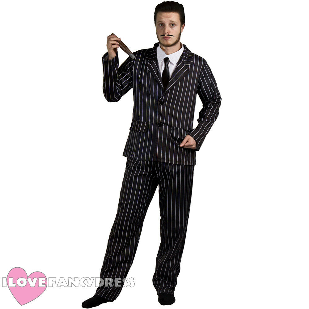 THE ADDAMS FAMILY MENS GOTHIC HUSBAND MR TV MOVIE FILM CHARACTER HALLOWEEN FANCY DRESS COSTUME