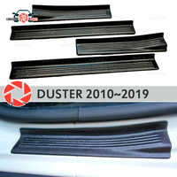 Door sills for Renault Duster 2010-2019 plastic ABS step plate inner trim accessories protection scuff car styling decoration
