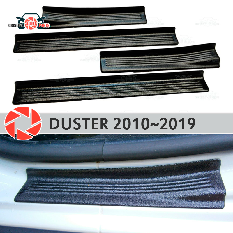 Seuils de porte pour Renault Duster 2010-2019 plastique ABS marchepied plaque garniture intérieure accessoires protection éraflure voiture style décoration